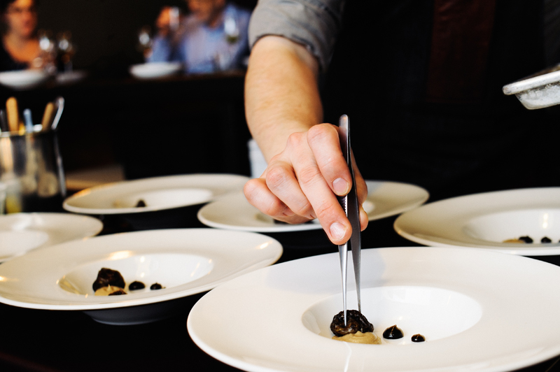 Dinner Preparation at Holdfast Dining by chefs William Preisch and JoelsStocks of HoldFast Dining