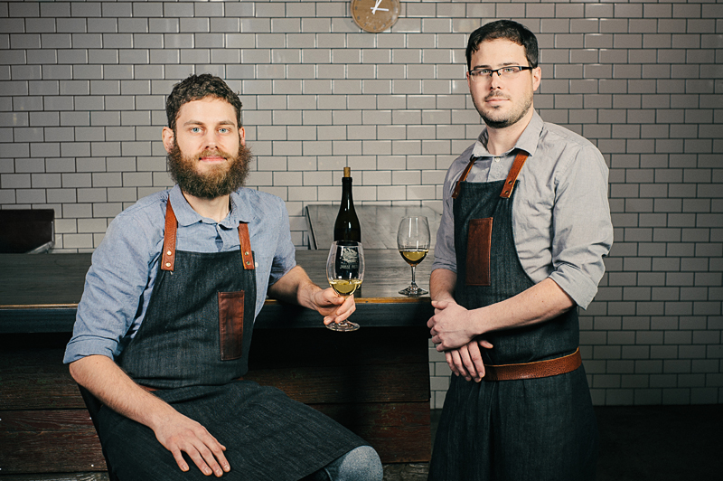 Chefs William Preisch and Joel Stocks of Holdfast Dining in Port