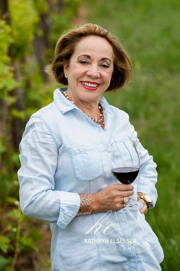 Julia Russell of Mansion Creek Cellars in Walla Walla in a Walla Walla vineyard