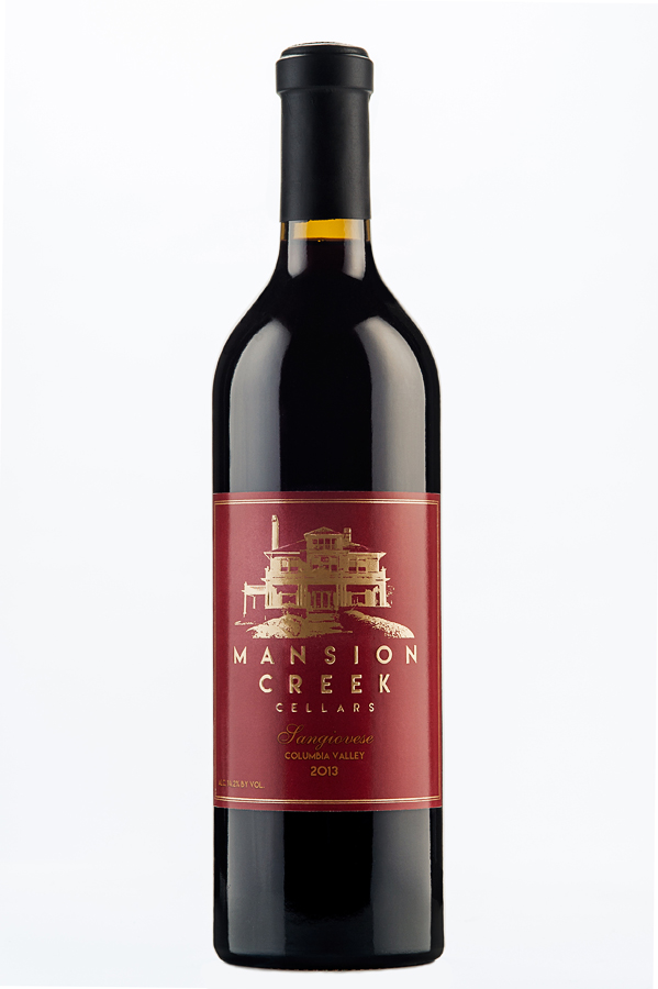 photograph of Mansion Creek Cellars 2013 Sangiovese produced by Julia Russell of Walla Walla, Washington