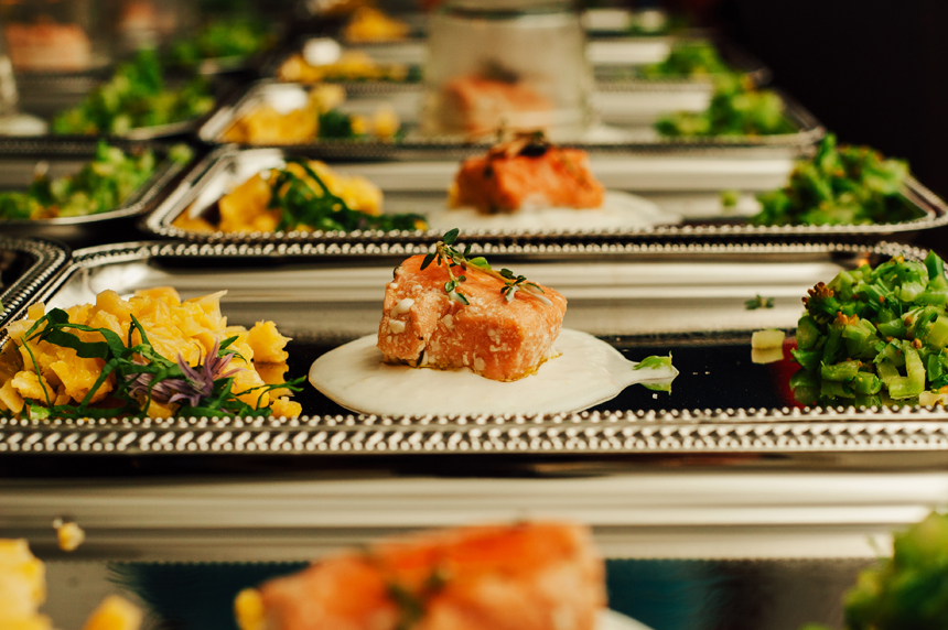 Salmon prepared by Chef Ryan Arbitz of Urban Gourmet Delivery