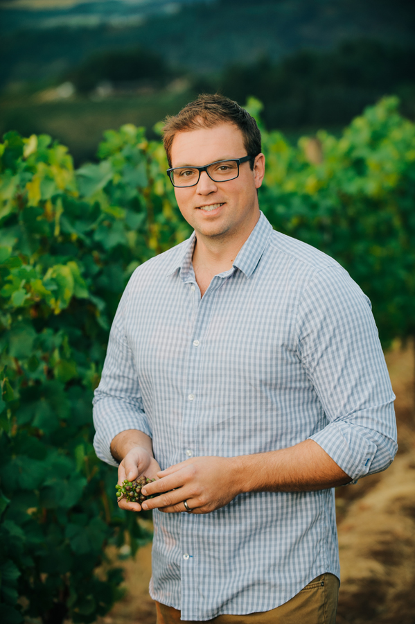 Karl Weichold, assistant Winemaker at Erath Winery, in Dundee, Oregon