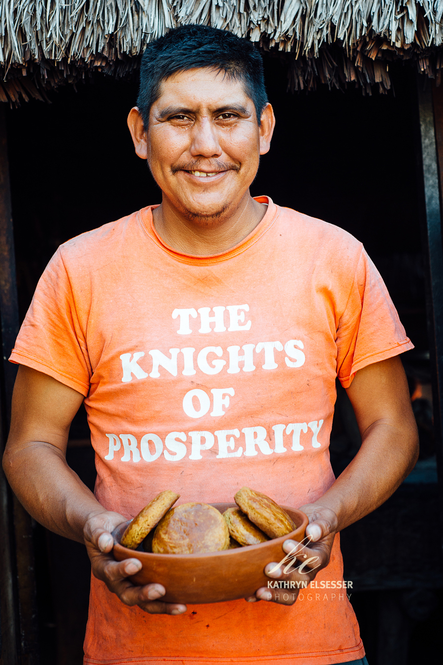 Proud chef in the village of La Candelaria in Baja, Mexico