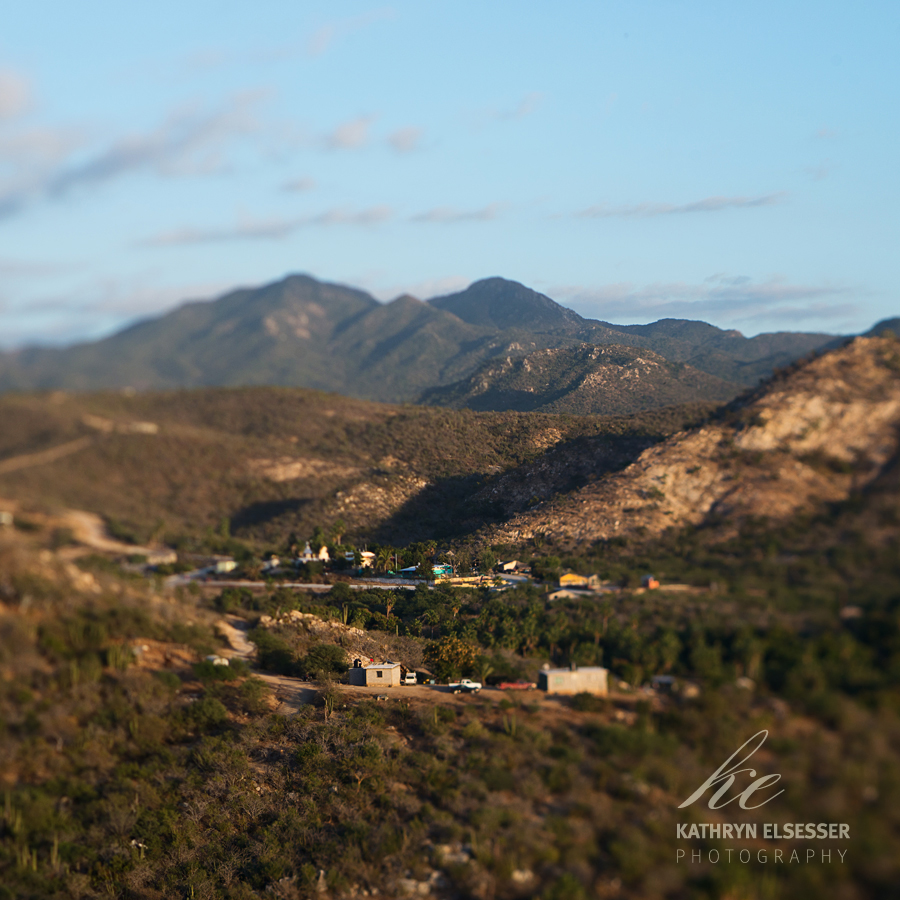 View of the village of La Candelaria in Baja, Mexico