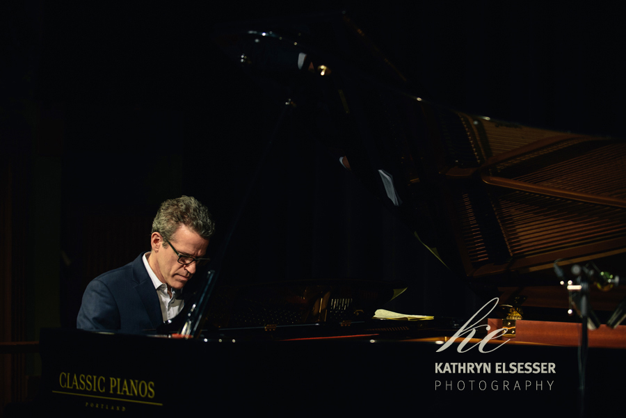 David Goldblatt performing for the Portland Jazz Festival at Classic Pianos