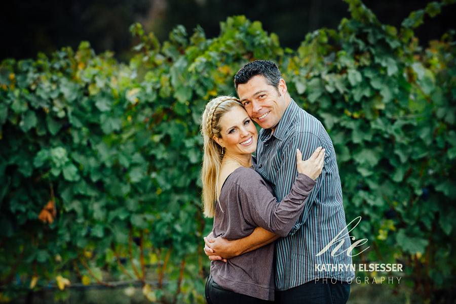 Monique & Jeff's Vineyard Engagement Portrait at Carlton Cellars
