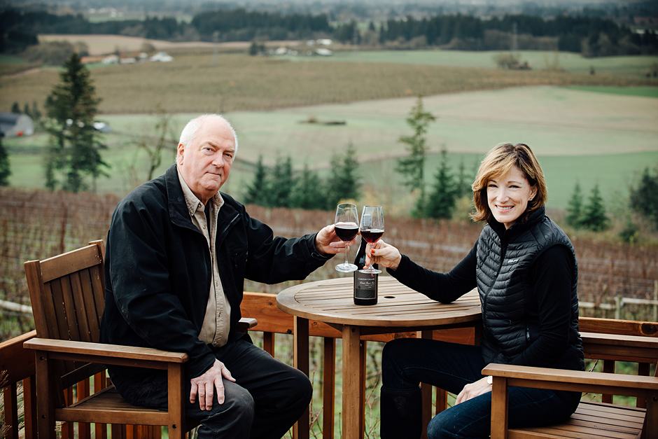 Dave Grooters and Robin Russell owners of Carlton Cellars