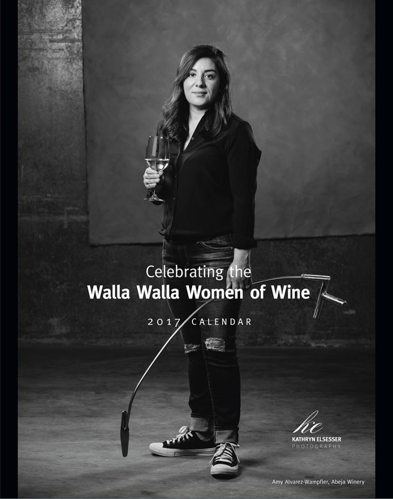 The cover image of Amy Alverez Wampfler wine maker for Abeja Winery