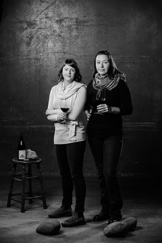 Elizabeth Bourcier, assistant wine maker and Cecile of Cayuse Vineyards