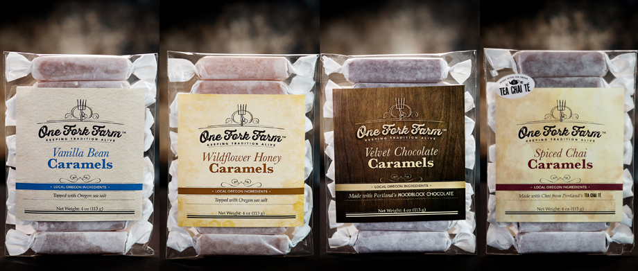 4 packages of One Fork Farm caramels