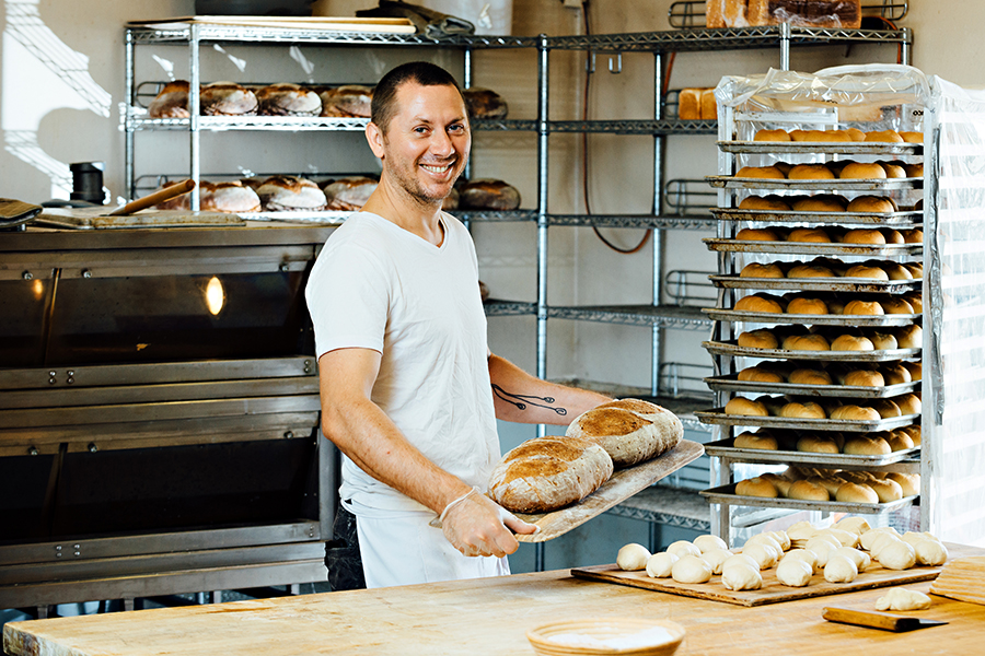 Baking Bread at Fressen Artisan Bakery