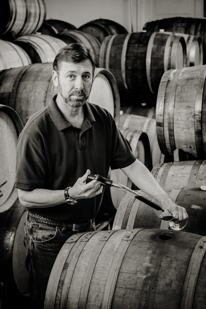 Boyd Teegarden winemaker and owner of Natalie Estate Winery