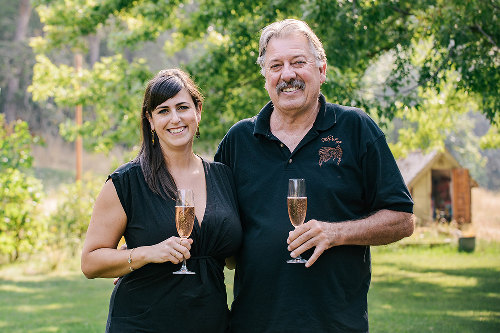 Sierra Wright with her father Lonnie Wright owner of The Pines 1852 Vineyards