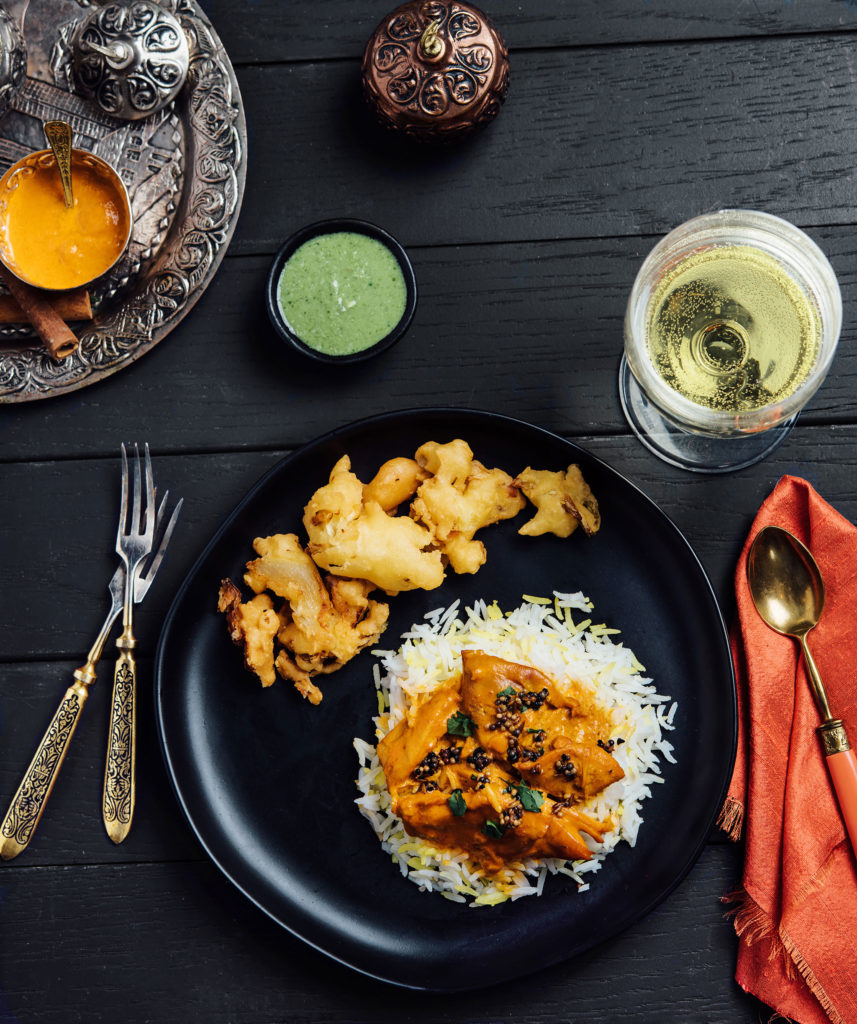 Styled Indian Food Dinner featuring food from Swagat in Portland, Oregon