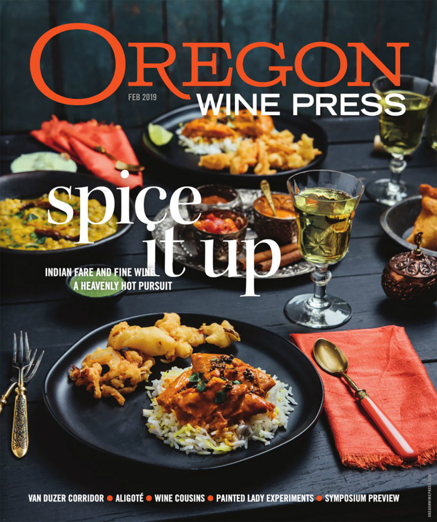 Cover of Oregon Wine Press February 2019